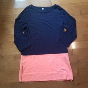 J. Crew Maritime 100% Cotton Color Block Dress